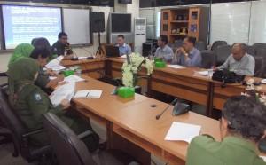 Kepala Dinas Tenaga Kerja dan Transportasi: Priyono bersama Ketua Umum Harian PATI Ir. Timbul Sinaga M.Hum, Pengurus PATI Dr. Ir. Richard N, M.Sc